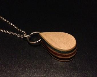 Recycled Skateboard Necklace