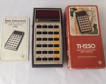 Texas Instruments TI-1250 Calculator with Memory