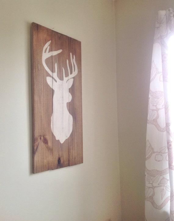 Rustic deer wall decor : Rustic deer wall decor
