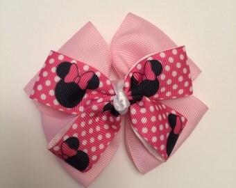 Cute Pink Minimouse hair bow