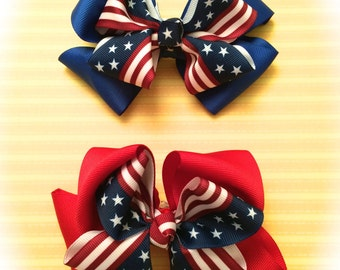 4th of July Must-have Hair bows