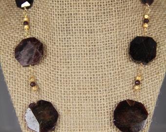 Garnet Necklace take 25% off!