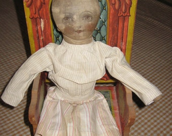 Vintage Rag Doll Painted Face