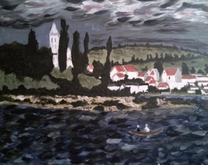 Landscape With Thunderstorm- MADE TO ORDER - Reproduction-Acrylic Painting - After Claude Monet