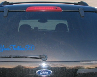 Custom Twitter Vinyl Decal
