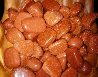 Red Goldstone Tumbled Gemstone / Tumbled Goldstone
