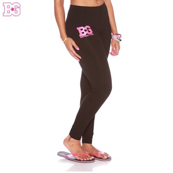 Birthday Girl Full Length Black Leggings With Pink BG Logo