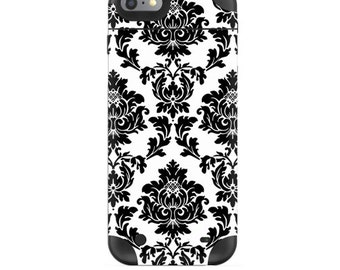 Skin Decal Wrap for Mophie H2Pro iPhone 6/6+ LG G4 Air iPhone 6  5 iPhone 4 Galaxy S6 Edge S7 Edge Vinyl Cover Skins Vintage Damask