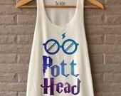 Pott Head Glasses Lighting Bolt Space Magic Spell Shirt Harry Potter Shirts Tank Top  Women Size S M L