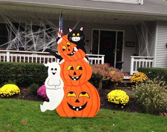 halloween outdoor wood decoration - Etsy Halloween Decorations