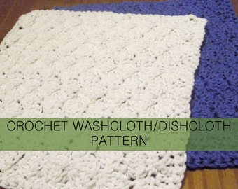Shell Crochet Washcloth Dishcloth PDF Pattern with permission to sell finished cloths