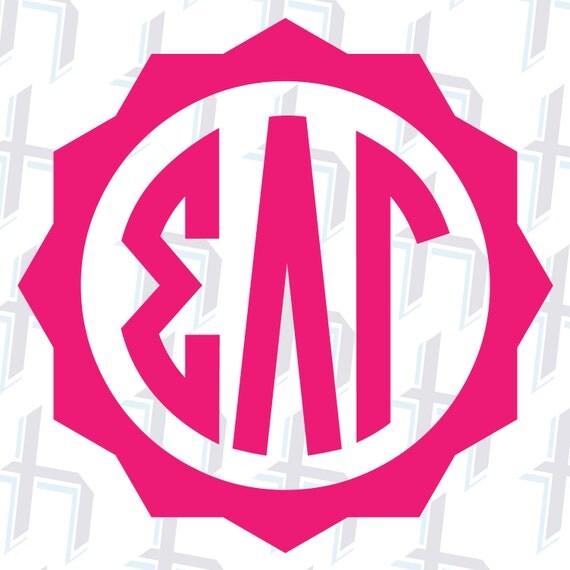 custom greek letter badge monogram vinyl decal 1 by With custom greek letter stickers