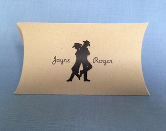 10 Personalized Country Western Favor Boxes.