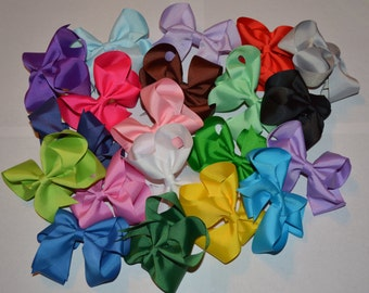 Classic Solid Color Bow