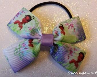 Hand made Disney Princess tiana, princess and the frog hair bow