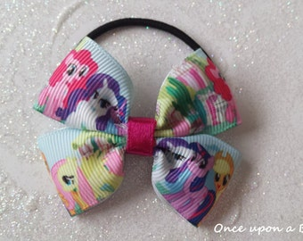 Hand made my little pony hair bow