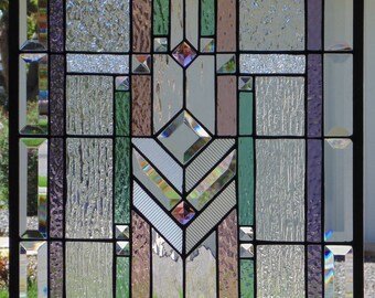 Stained Glass Window Hanging 24 X 17