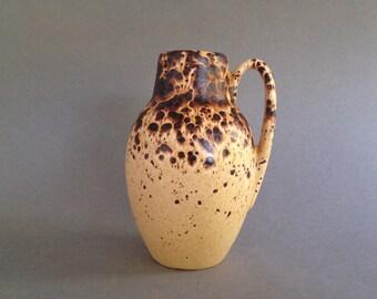 Scheurich  414  - 16  Fat Lava glaze  vintage  vase  , design Heinz Siery, 1960s / 1970s  West Germany Pottery, WGP vase.