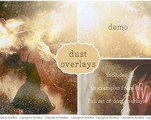 Dust Photoshop Overlays: Floating sparkling glitter Professional Photo Layer, Editing Background Backdrops, Photoshoot Enhancement Tool