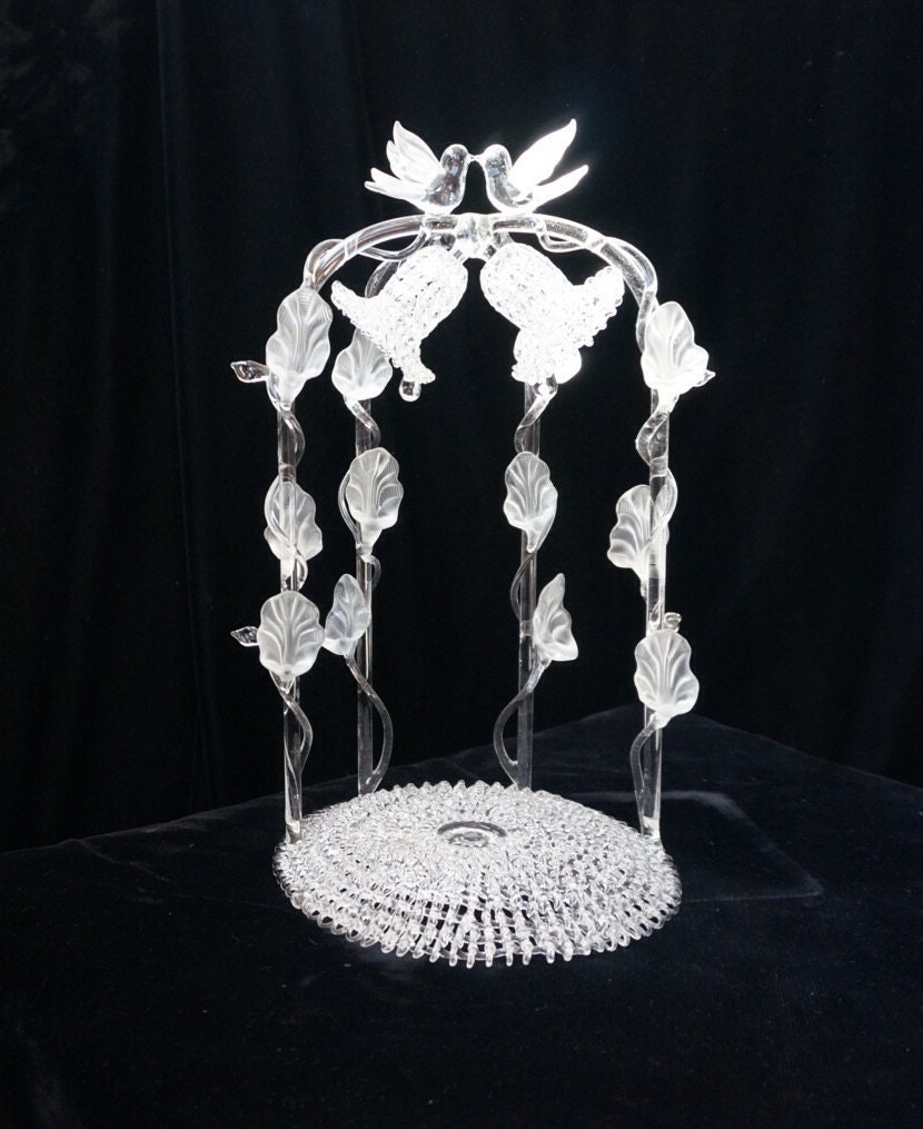 waterford crystal wedding cake topper vintage blown glass wedding cake topper 21672