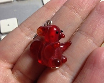 Squirrel Lamp Work Earrings