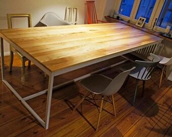 "Table, office desk, ""Industrial Grey Big"""