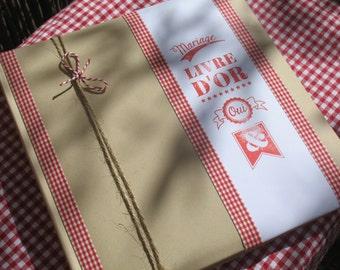 Wedding |esprit guinguette| guestbook