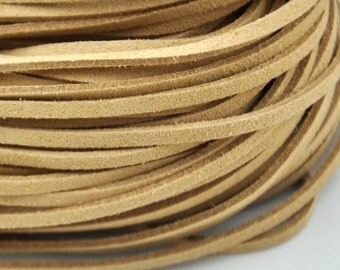 10 meters of  Shallow brown Faux Leather Ribbon Cords String--- 2.5mm---S0216