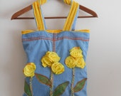 Recycled Jeans Handbags, Applique Bag, Floral Handbags, Women Handbags, Fashion Handbags jeans, Handmade Handbags, Jeans Handbags