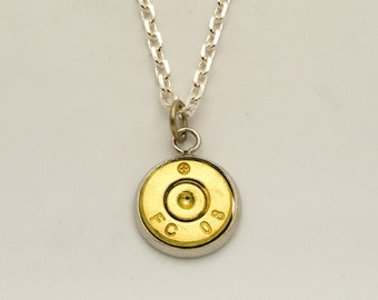 Bullet Pendant Necklace made from .308 Bullet with Primer Free Shipping