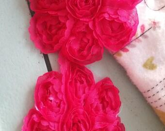 SALE***1 Yard Pink Rose Flower Netting