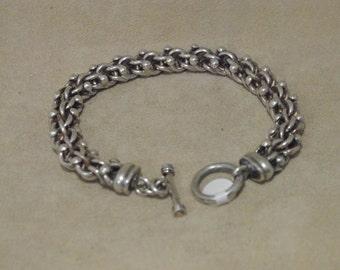Very Nice Heavy Sterling Silver Link Bracelet