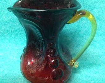 """Kanawha Glass Pitcher Amberina 5 3 4"""""""