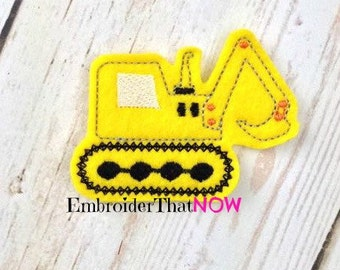 DIGITAL Construction Digger Feltie Embroidery Design File