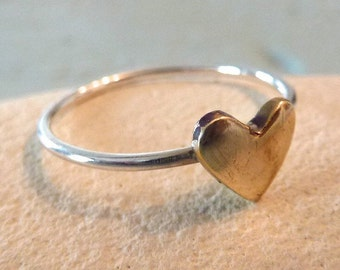 Sterling Silver Delicate Heart Ring
