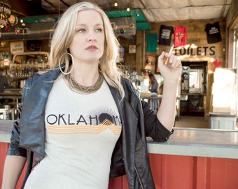 Womens Oklahoma Vintage Travel T-Shirt