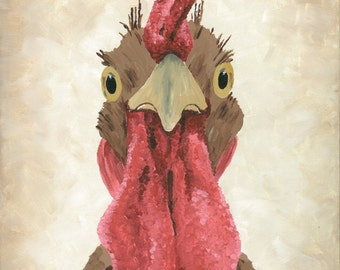 "Rooster Print Instant Download ""Sarge II"""