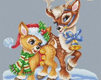 "Cross stitch pattern ""Fawn"""