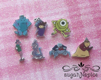 Disney's Monster's Inc Floating Charms - Monsters Inc Necklace - Sulley Floating Charm - Monster's Inc Floating Charms - Mike Floating Charm