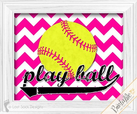 Https Www Etsy Com Listing 217007860 Girls Softball Theme Bedroom Chevron Hot
