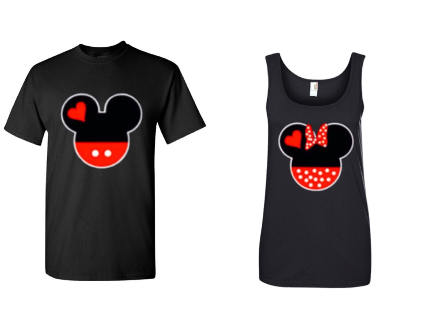 Mickey And Minnie Couples Shirts Mr and Mrs Couples shi...