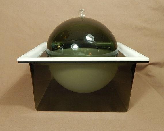 acrylic ice bucket food server lucite floating globe ice