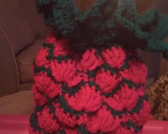 Hot pink pineapple bag.