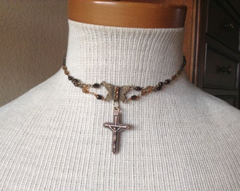 Crucific Choker Necklace 12-15inch