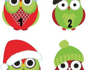 Personalized / Custom Christmas Owl Iron On Transfer