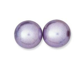 PRECIOSA Glass Pearls -Tanzanite - 10mm - Pack 20 beads