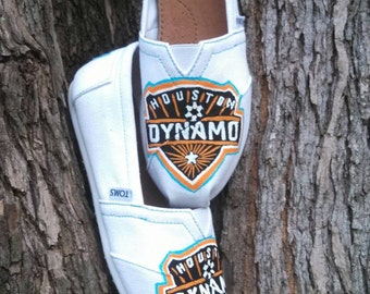 Houston Dynamo Soccer MLS Custom/Hand Painted TOMS Shoes