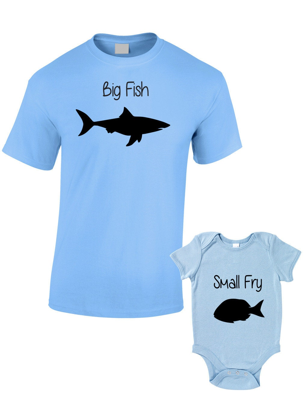 Big Fish Little Fry T Shirts Or Baby Grow Matching Father