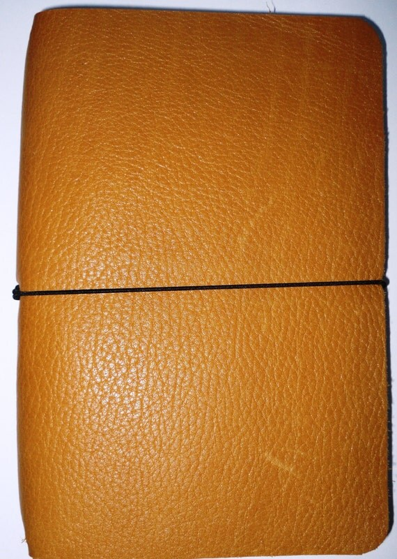 How To Make A Reusable Book Cover : Refillable cover leather book jacket travellers notebook