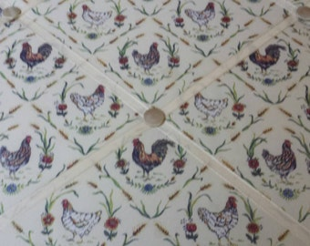 Rooster and hen wall hanging